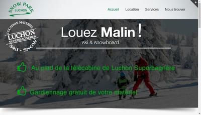 Site internet de Snow Park