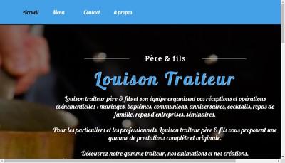 Site internet de Louison Traiteur Pere et Fils