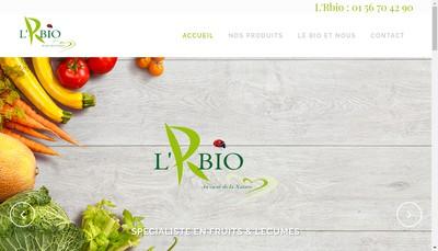 Site internet de L'R Bio