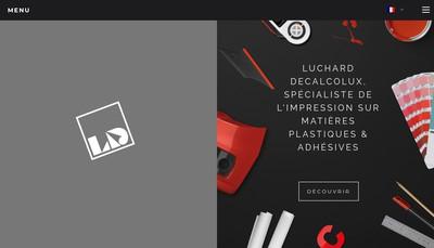 Site internet de Luchard Decalcolux
