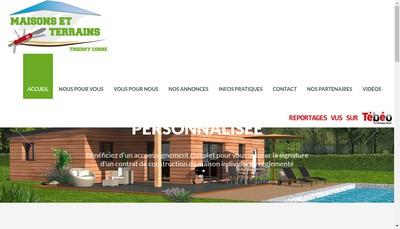 Site internet de Maisons et Terrains Thierry Corre