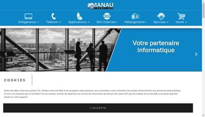 Site internet de Manau Informatique