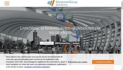 Site internet de Manpowergroup Solutions Enterprise