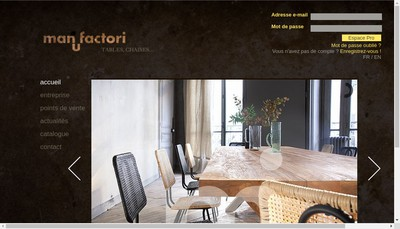 Site internet de Manufactori Tablemotion