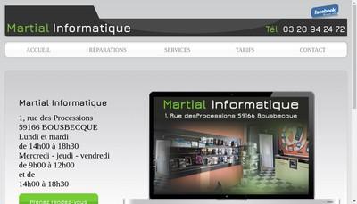 Site internet de Martial Informatique