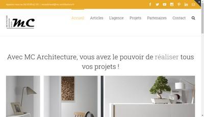 Site internet de MC ARCHITECTURE