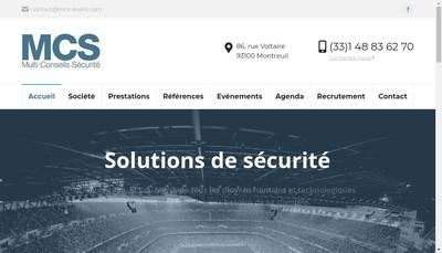 Site internet de Multi Conseils Securite