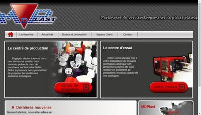 Site internet de MD Plast