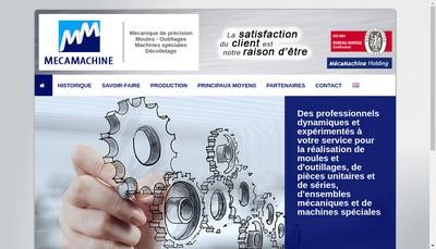 Site internet de Mecamachine