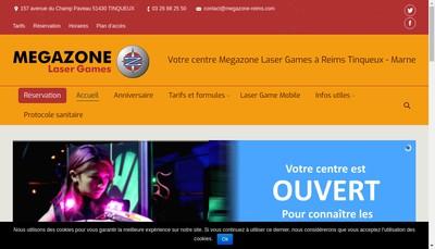 Site internet de Megazone Reims