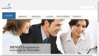 Site internet de Menisys