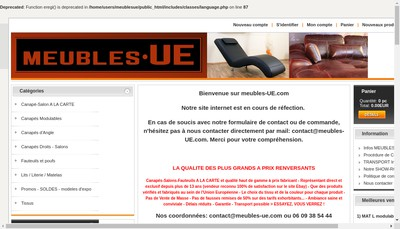 Site internet de Meubles-Ue