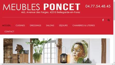 Site internet de Etablissements Poncet