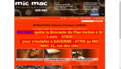 Site internet de Mic Mac
