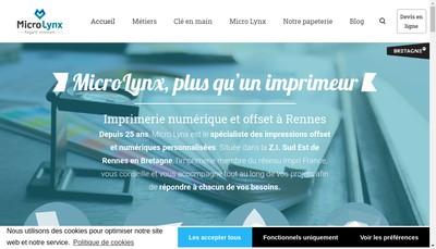 Site internet de Micro Lynx Photogravure