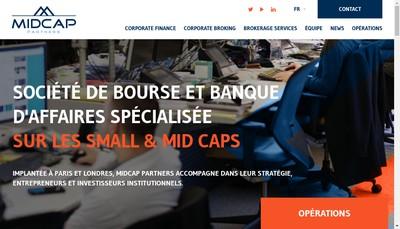 Site internet de Midcap Partners