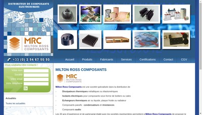 Site internet de Milton Ross Composants
