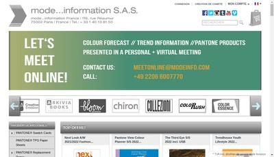 Site internet de Mode Information