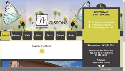 Site internet de Les Moissons