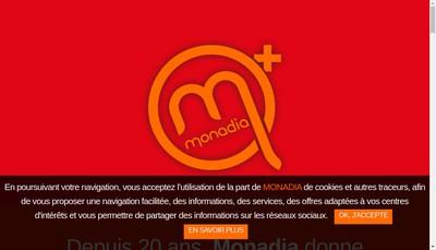 Site internet de Monadia