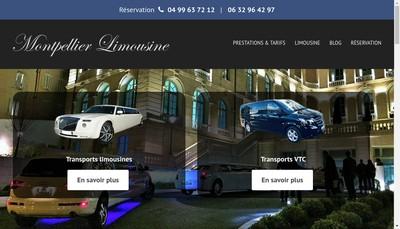 Site internet de Montpellier Limousine