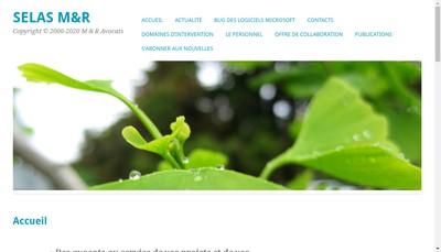 Site internet de M & R Avocats
