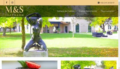 Site internet de Au Domaine de Chatillon