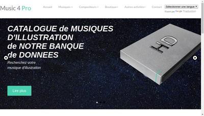 Site internet de Music 4 Pro
