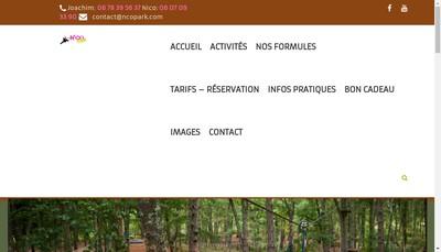 Site internet de EURL N'Co Park