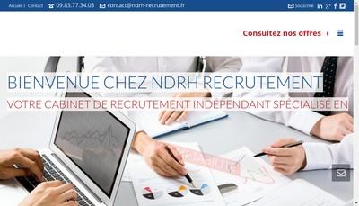 Site internet de Ndrh Recrutement