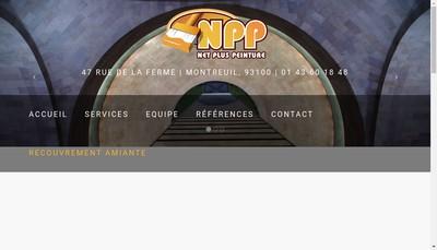Site internet de Net Plus Peinture