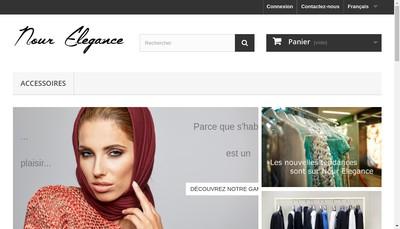 Site internet de Nour Elegance