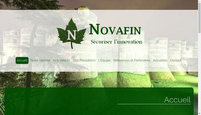Site internet de Novafin