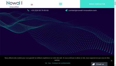 Site internet de Nowall Innovation