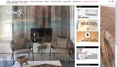 Site internet de Now'S Home France
