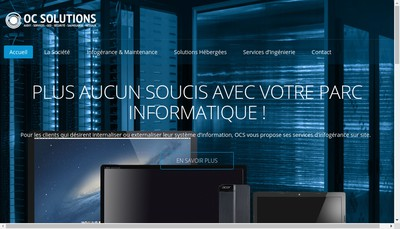 Site internet de Oc Solutions