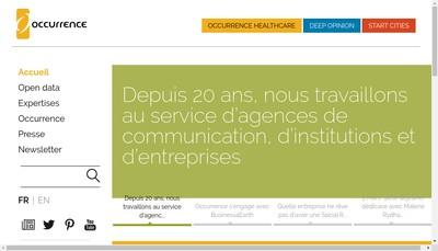 Site internet de Occurence Healthcare-Odp