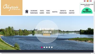 Site internet de Odyssee en Val de Loire
