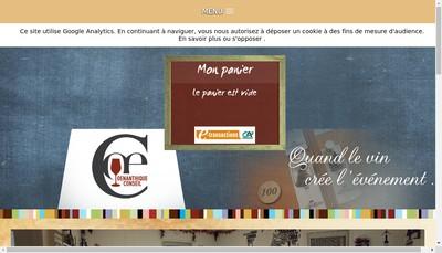 Site internet de Oenanthique Conseil