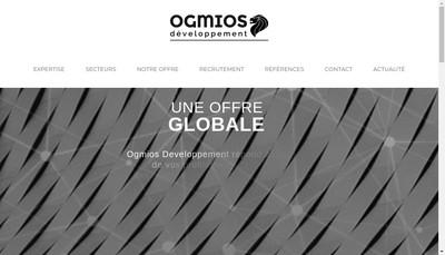 Site internet de Ogmios Developpement