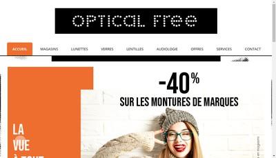 Site internet de Optical Free