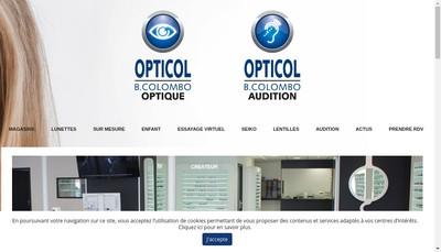 Site internet de Opticol Audicol B Colombo