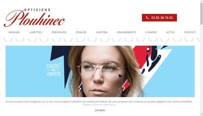 Site internet de Opticiens Plouhinec