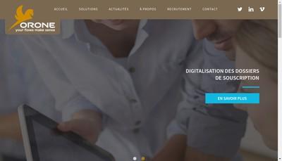 Site internet de Orone France