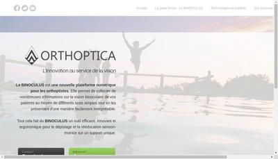 Site internet de Orthoptica