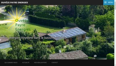 Site internet de Ouveze Payre Energies