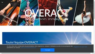 Site internet de Overact