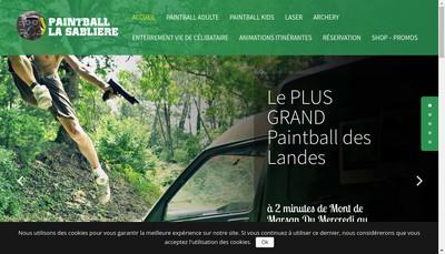 Site internet de Paintball la Sabliere
