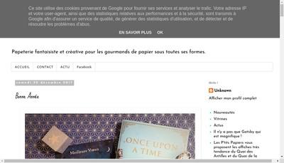 Site internet de Les P' Tits Papiers