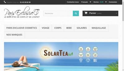 Site internet de Paris Exclusive Cosmetics